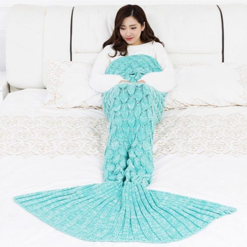 Crochet Mermaid Tail Blanket Wearable Blanket