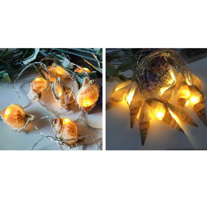 Seashell String Lights LED Decor
