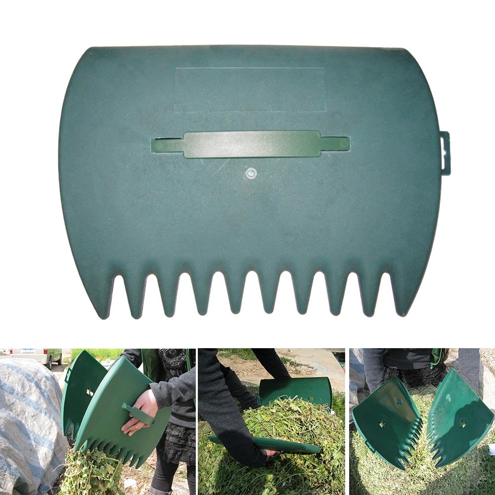 1Pair Garden Cleaning Leaf Scoop Portable Trimming Leaves Tool Rubbish Grass Lawn Yard Hand Rakes Grabber Collect Pick Up
