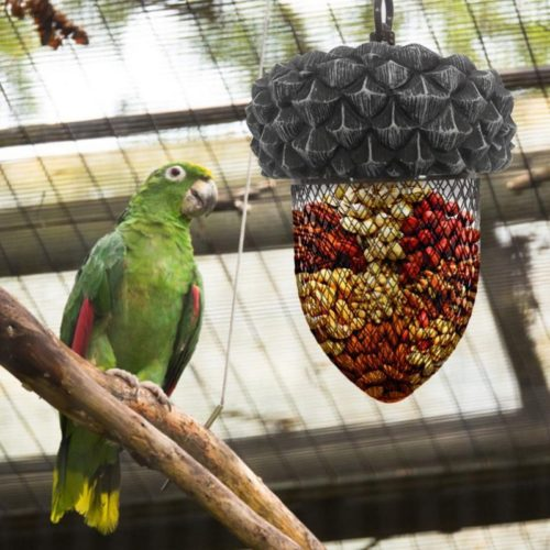 Mesh Bird Feeder Acorn-Shaped Dispenser