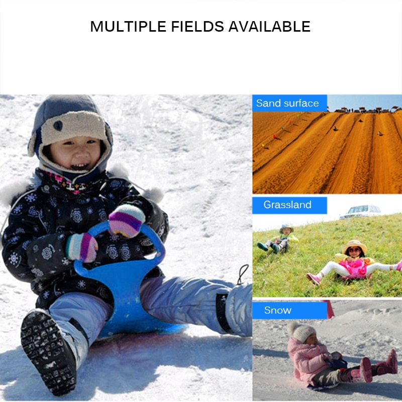 Kids Ski Board Sled Winter Outdoor Sport Party 2020 New Thick Plastic Board Sand Grass Sled Ski Skating Funny Sled Children Gift