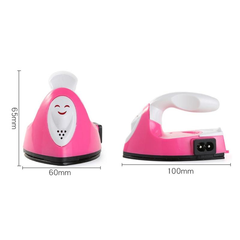 Mini Electric Iron Portable Travel Craft Clothing Sewing Pad Electric Protection Household Cover Iron Supplies L4G6