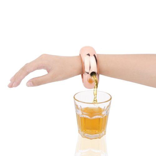 Booze Bangle Stainless Steel Bracelet Flask