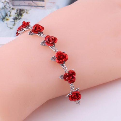 Rose Bracelet Chain Wrist Accessory