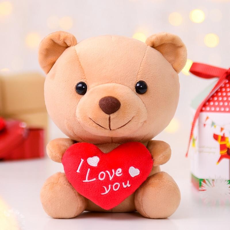 Gloveleya Plush Teddy Bear Doll with Heart Lover's Gifts Plush Toys Gift for Girlfriend Baby Plush Dolls Heart Bear Dolls