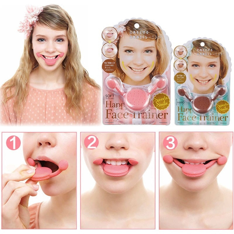 Smile Corrector Maker Facial Smile Flex Fitness Exerciser Face Lift Jaw Workout Beauty Exercise Device Face-lift Tool