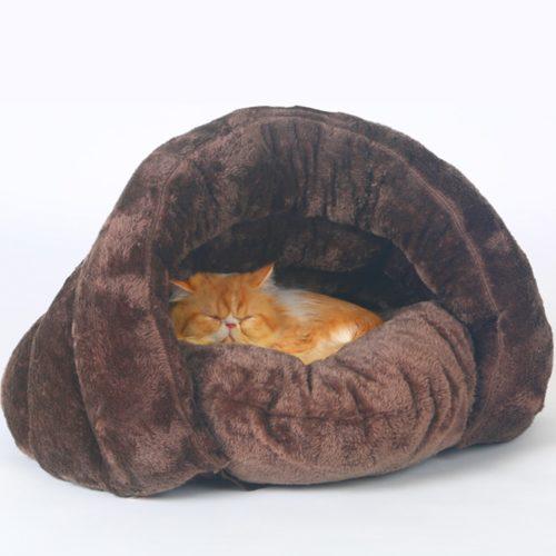 Pet Cave Bed Dog Cat Plush Nest