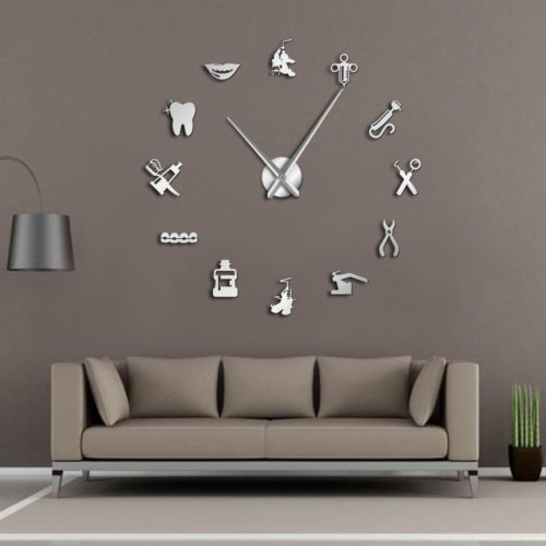 Dentist Clock Frameless Wall Clock