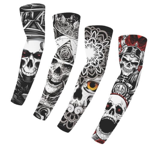 Skull Tattoo Sleeves UV Arm Protection