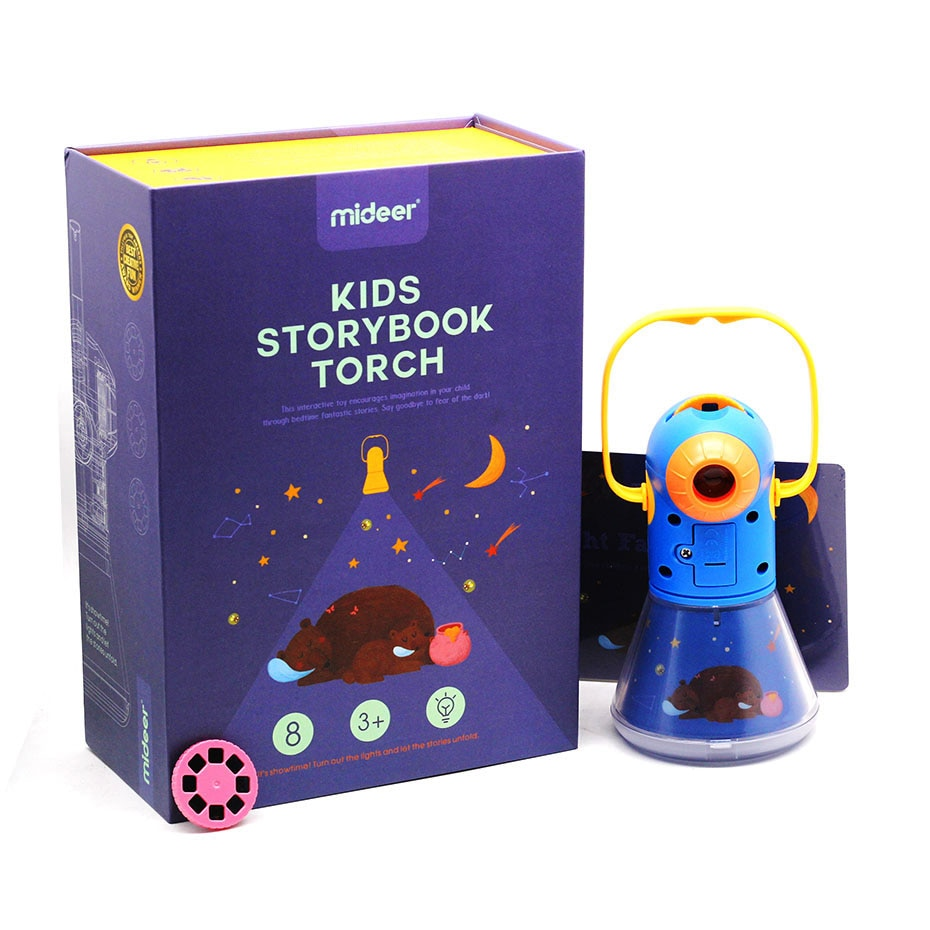 Storybook Torch Projector Kaleidoscope Kids Light Up Baby Toys Kids Learning Educational Toys For Children Fairy Tales Gift