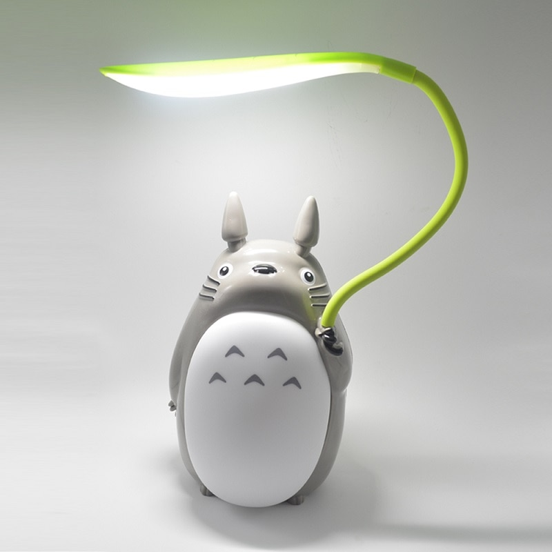 Kawaii Cartoon Totoro Lamp 3 Choice Rechargeable Table Lamp Led Night Light Reading for Kids Gift Home Decor Novelty Lightings