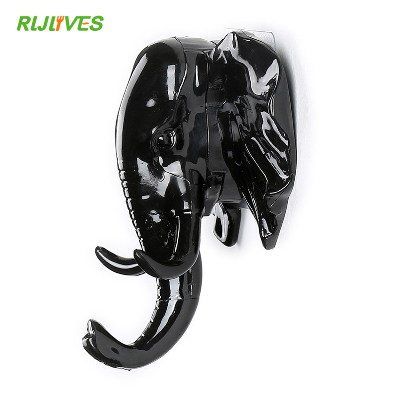 Animal Key Hooks for Wall Hook Nail-free Seamless Hook Living Room Wall Decoration Wall Hanging Elephant Hook Keys Holder