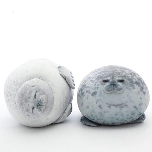 Seal Pillow Chubby Animal Cushion
