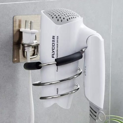 Wall Hair Dryer Holder Metal Stand
