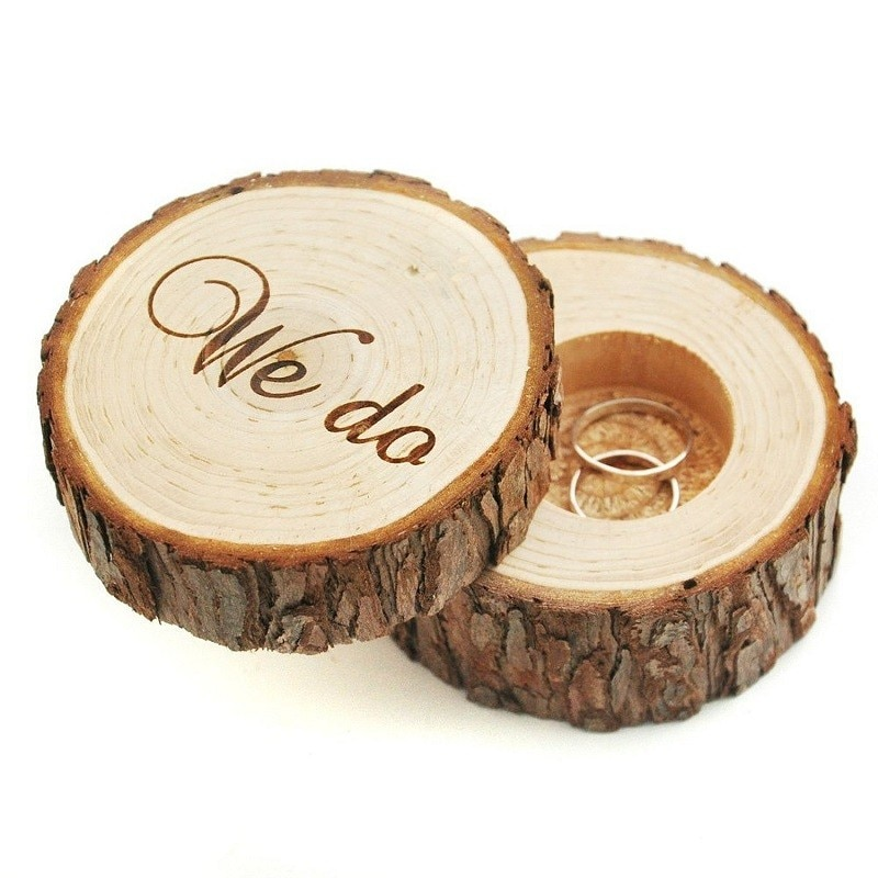 Classical Wedding Ring Bearer Box Creative Personalized Wedding Ring Box Wedding Gifts Wooden Ring Holder Box Decoration Tools