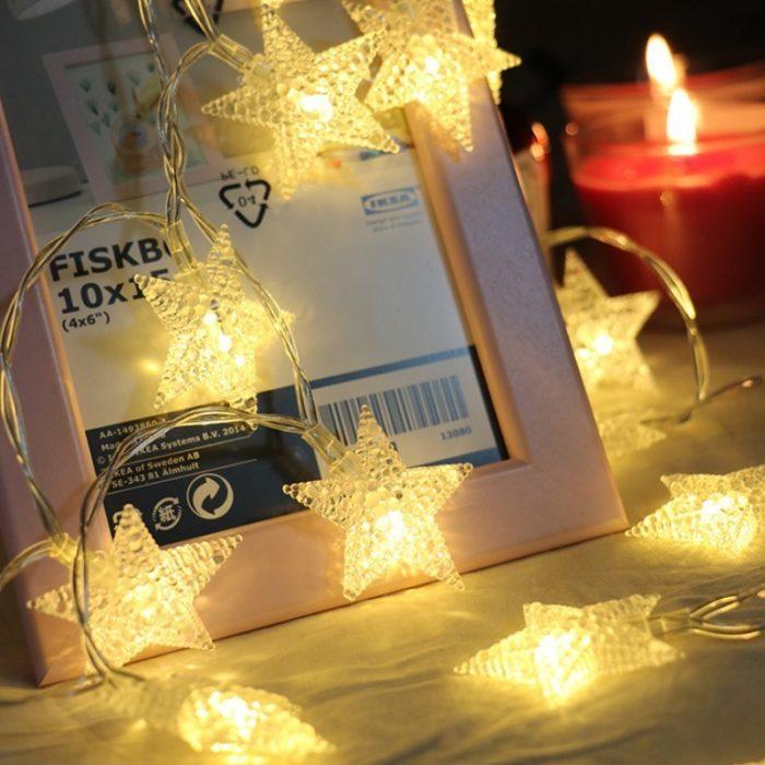 Star Shaped String Lights LED Hanging Light