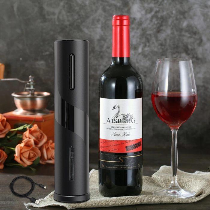 Electric Wine Bottle Opener Device