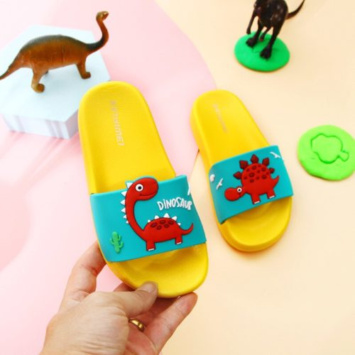 Kids Dinosaur Slippers Cute Non-Slip Slippers