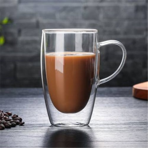 Double Glass Mug Coffee Transparent Cup