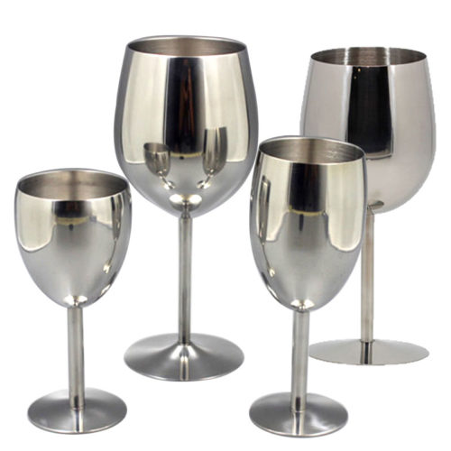 Metal Wine Glasses Cocktail Cup (2 Pcs)