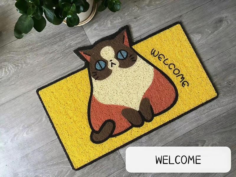 Welcome Doormat Entrance Hallway Rectangle Printed Non-Slip Floor Rugs Front Door Mat Outdoor Rugs Carpet Bedroom Kitchen