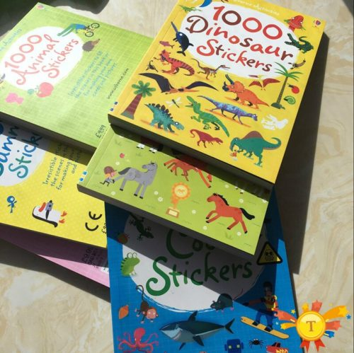 Kids Sticker Book 1000 Reusable Stickers