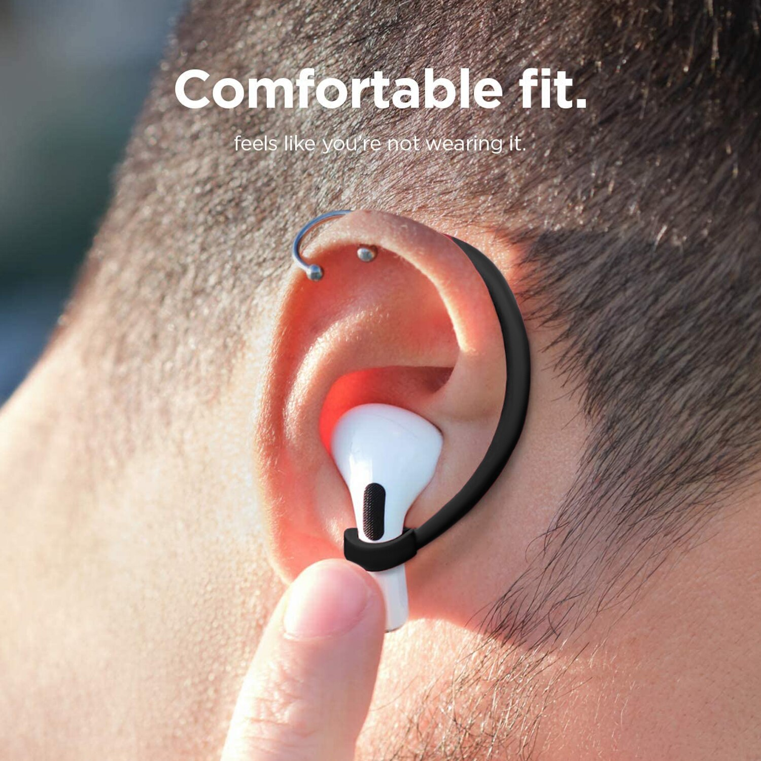 2Pcs Protective Earhooks Holder Secure Fit Hooks for Airpods Wireless Earphone Accessories Silicone Sports Anti-lost Ear Hook