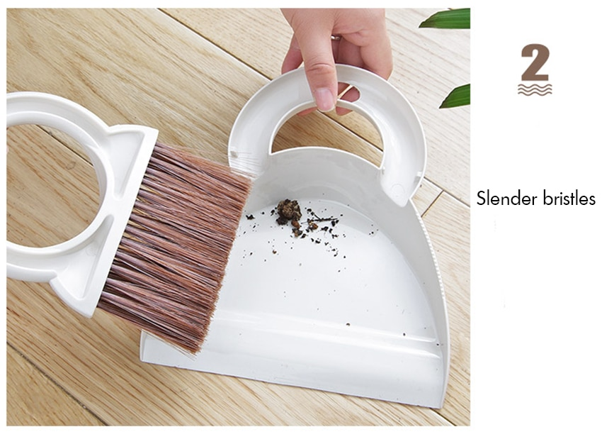 Desktop Cleaning Broom Dustpan Combo Mini Handy Dust Cleaning Sweeping Brush Dustpan for Table, Desk, Counertop, Keyboard