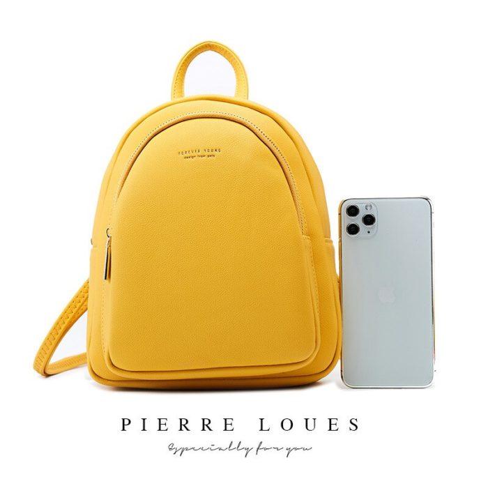 Ladies Mini Backpack Leather Bag