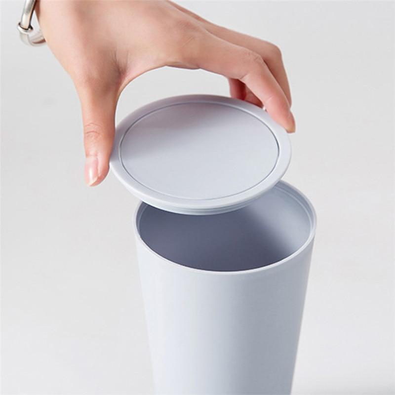 16.5x8cm Waste Bin Small Trash Can Mini Desktop Litter Trash Little Tabletop Trashbox For Desk Car Trash Bin Dropship Kitchen
