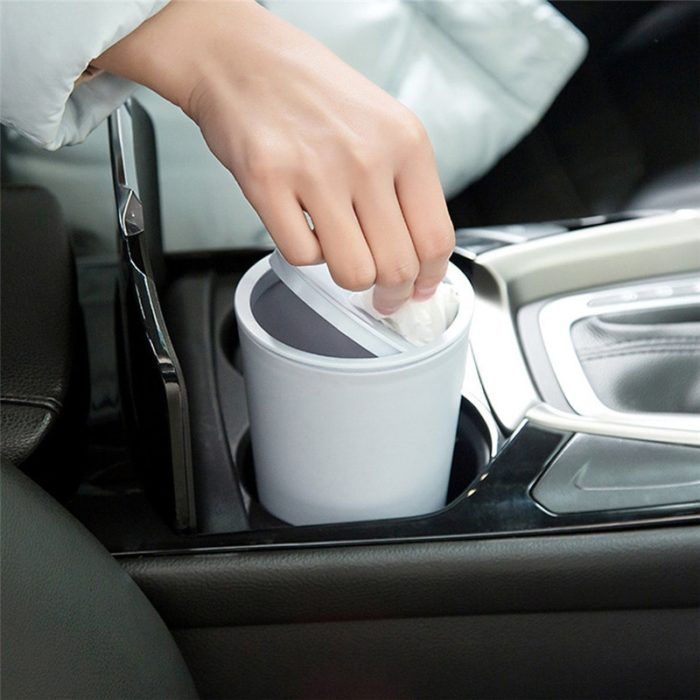Mini Desk Trash Can Car Waster Bin