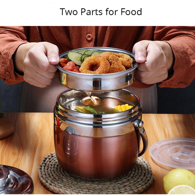 2020 New 1.5/1.2L Stainless Steel Food Thermos 12-24 Hours Vacuum Lunch Box Thermo Container Soup Jar Insulated Thermoses