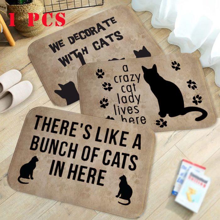 Cat Doormat Anti-Slip Entrance Rug