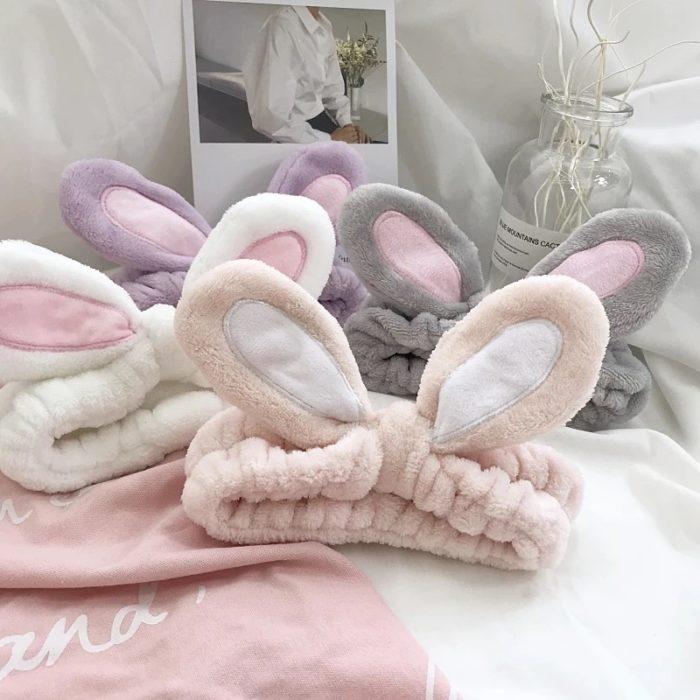 Rabbit Ears Headband Soft and Elastic Headwear