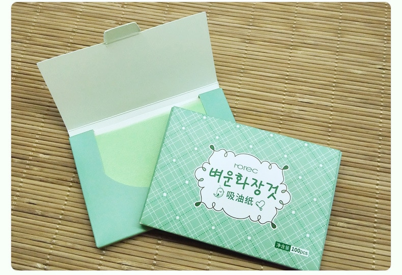 100sheets/pack Green Tea Facial Oil Blotting Sheets Paper Cleansing Face Oil Control Absorbent Paper Beauty makeup tools