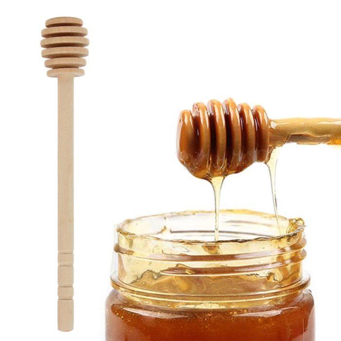 Honey Dipper Stick Wooden Syrup Dipper