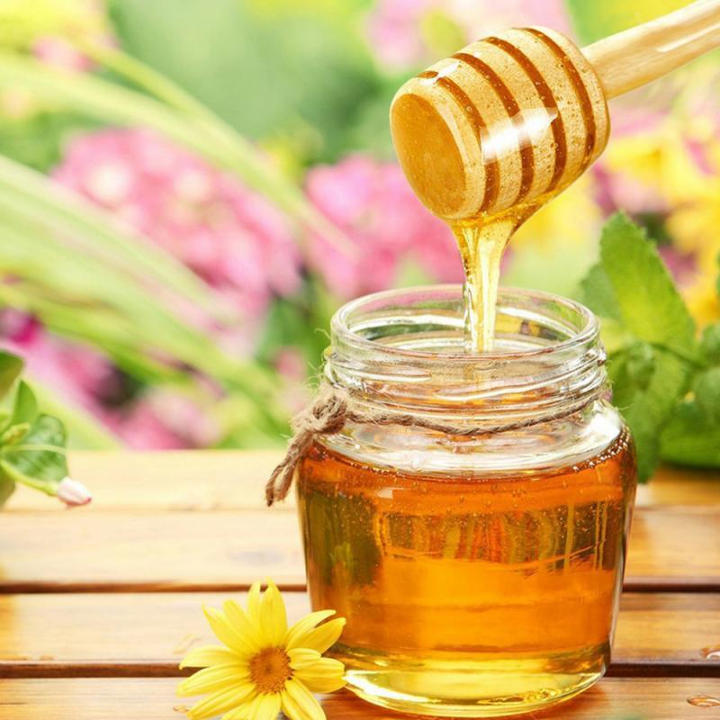 Eco-Friendly Wooden Spoon Wood Honey Dipper Sticks For Honey Jar Dispense Drizzle Honey Wood Spoon Mixing Stick Dessert Tools
