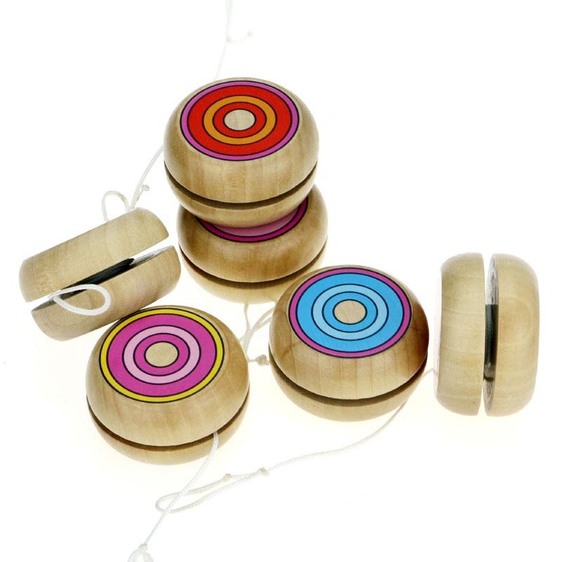 1Pcs Yoyo Wooden Toys 4.5cm Yo-yo Classic Toys Wooden YO-YO Ball Spin Professional Classic Toys For Child Gift G0003