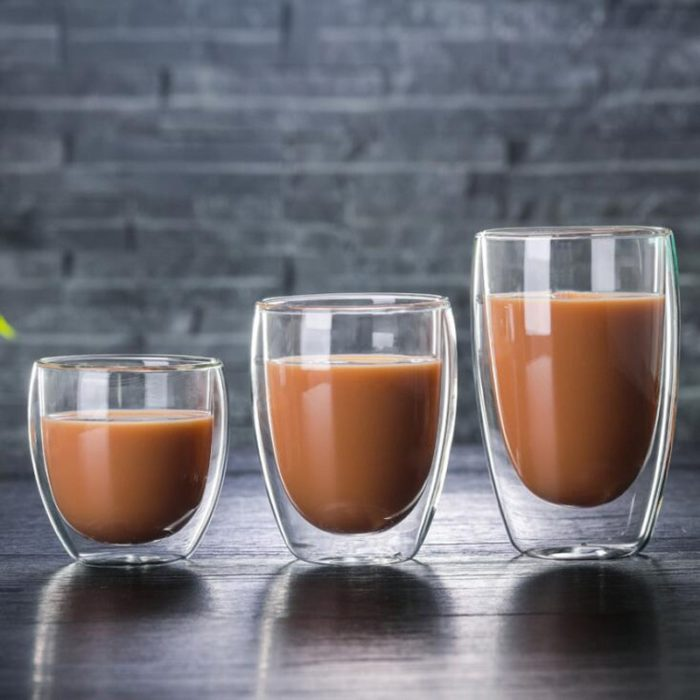 Double Glass Cup Heat Resistant Mug