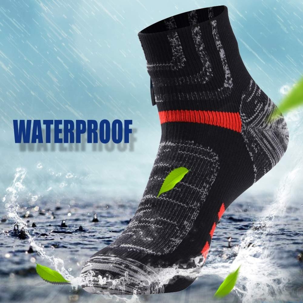 RANDY SUN Ankle Waterproof Sports Socks Breathable Windproof Sweat Wicking Soft Outdoor Hiking Climbing Fishing Cycling Socks