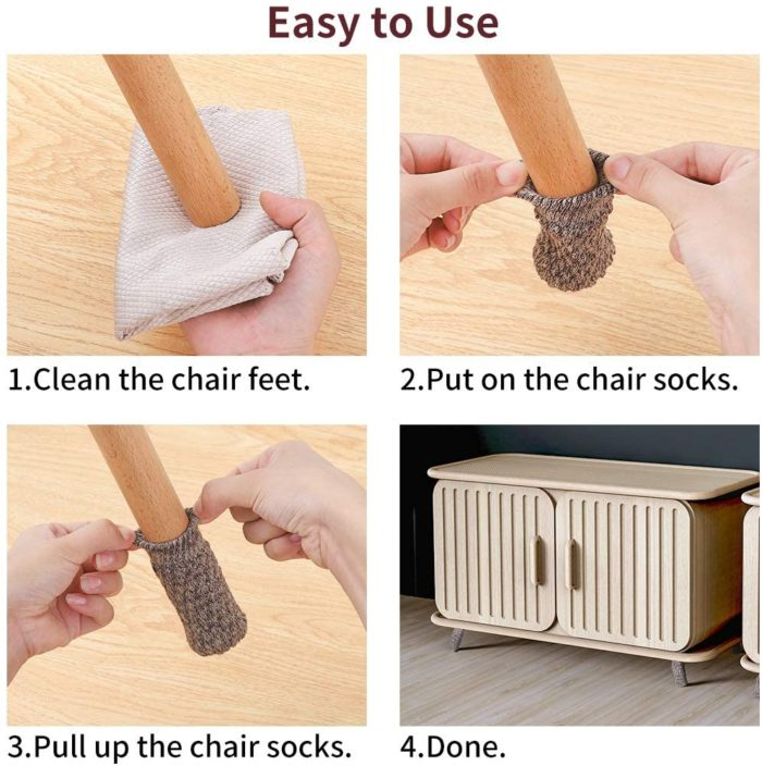 Socks For Chair Legs Chair Feet Covers (24Pcs.)