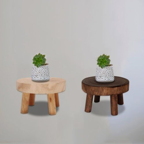 Plant Stool Wood Garden Flower Stand