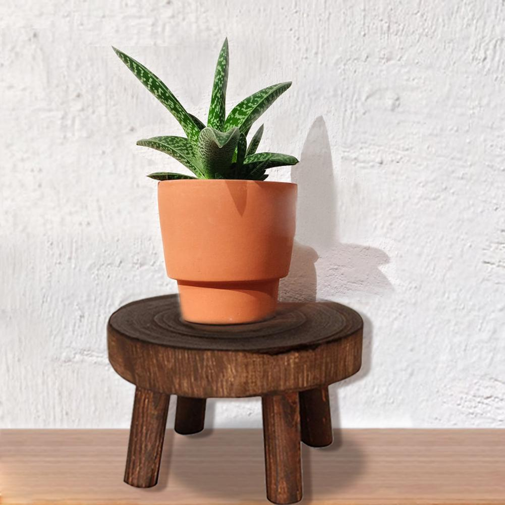 New Wooden Plant Stand Flower Pot Base Holder Stool Indoor Outdoor Garden Succulent Flower Display Plant Stand Shelf