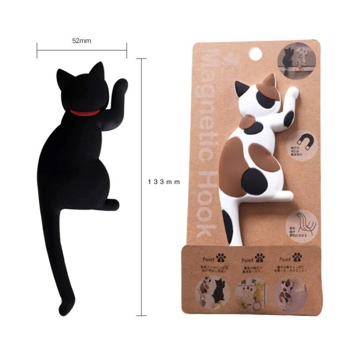Cat Fridge Magnet Cute Hanging Hook