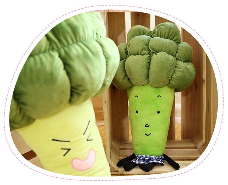 1pc 55 / 65cm cartoon vegetable plush toy creative broccoli plush pillow children soft stuffed toys children birthday gift WJ126