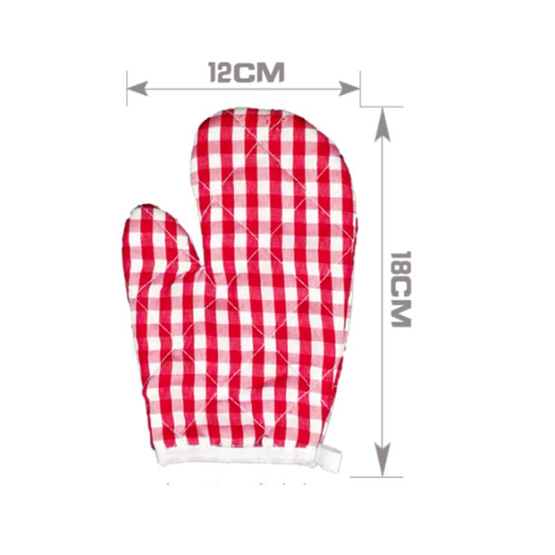 2pcs Oven Baking Gloves Microwave Oven Baking Anti-Scald Heat Insulation Kitchen Gloves Mitts For Kids