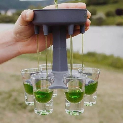 Shot Glass Dispenser 6-Cup Holder