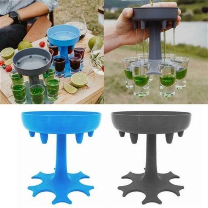 Shot Glass Dispenser 6-Cup Holder