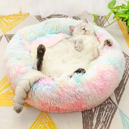 Pet Cushion Bed Round Plush Bed