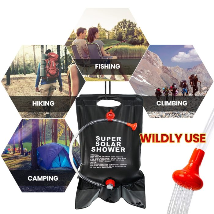 Solar Camping Shower Bag 20L Pouch
